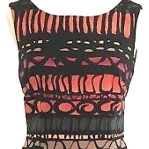MulticolorGeometric Print Sheath Sleeveless Dress